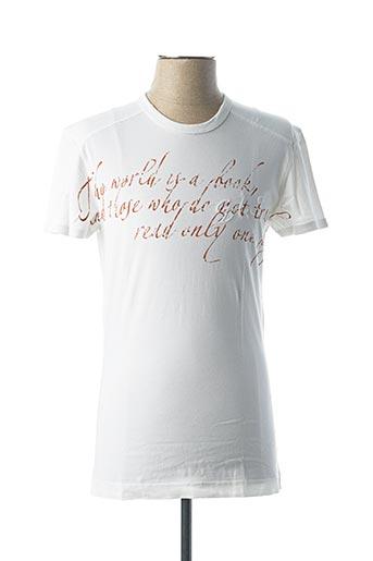 T-shirt manches courtes blanc GAS pour homme