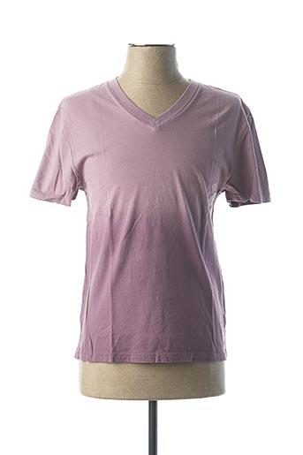 T-shirt manches courtes violet CALIFORNIAN VINTAGE pour homme