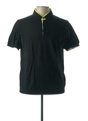 Polo manches courtes noir VNECK pour homme