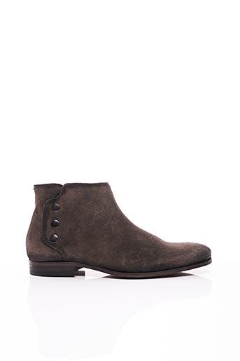 Bottines/Boots gris ERIC FILLIAT pour homme