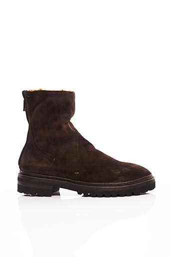 Bottines/Boots marron VIBRAM pour homme
