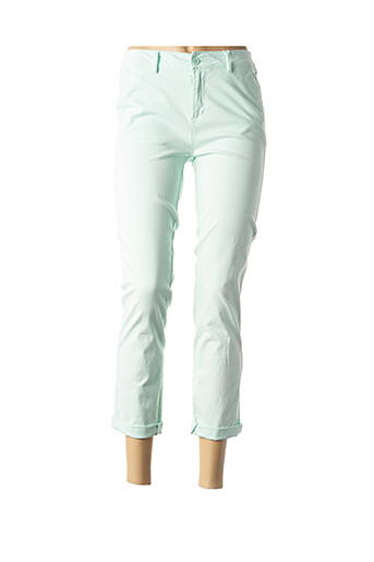 Pantalon 7/8 vert C'EST BEAU LA VIE pour femme