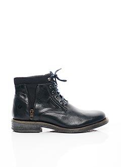 Bottines/Boots noir SANTAFE pour homme