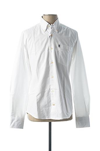 Chemise manches longues blanc BARBOUR pour homme