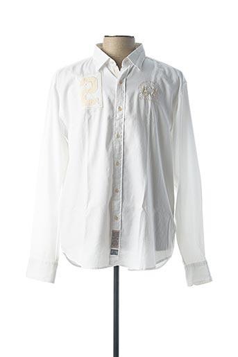 Chemise manches longues blanc LA MARTINA pour homme