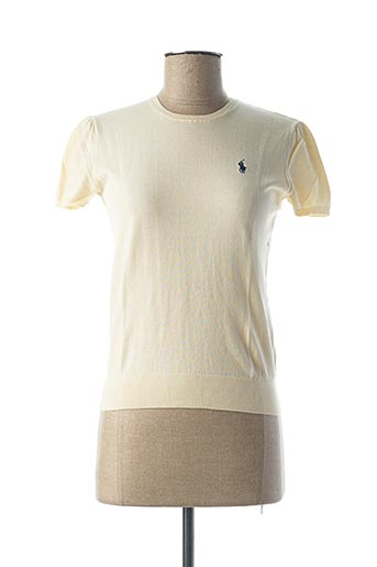 Pull col rond beige RALPH LAUREN pour femme