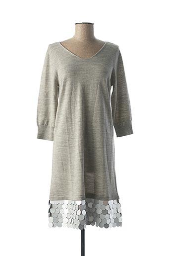 Robe mi-longue gris ARMANI pour femme