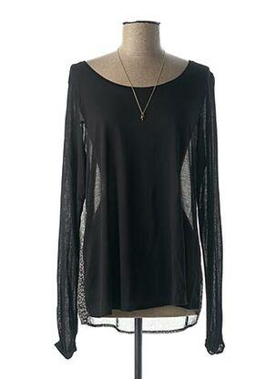 T-shirt manches longues noir MAISON SCOTCH pour femme