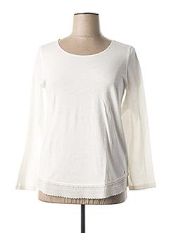 T-shirt manches longues blanc DES PETITS HAUTS pour femme