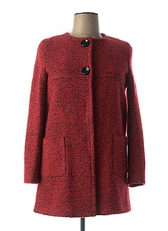 Manteau long rouge FLY GIRL pour femme