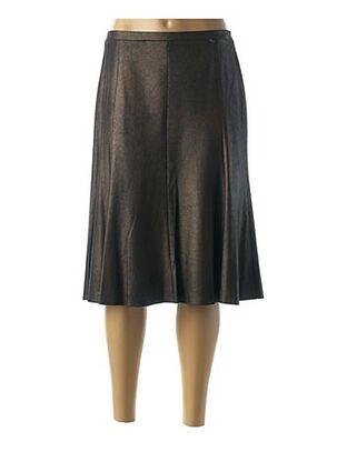 Jupe mi-longue marron GERRY WEBER pour femme