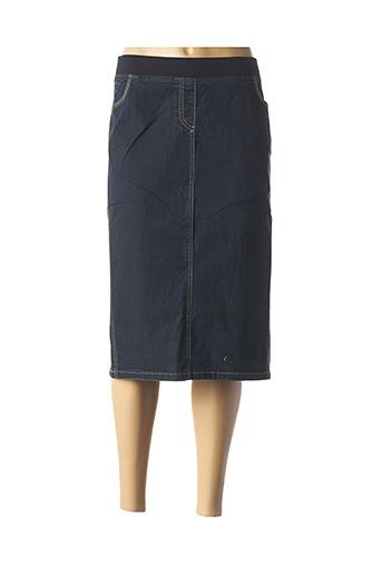 Jupe mi-longue bleu ELENA MIRO pour femme