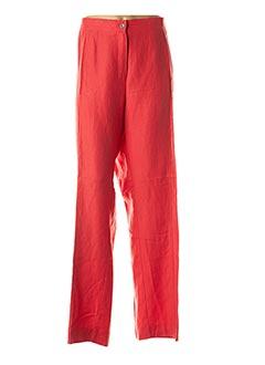 Pantalon casual orange JEAN GABRIEL pour femme