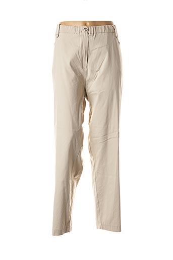Pantalon casual beige EDMOND BOUBLIL pour femme