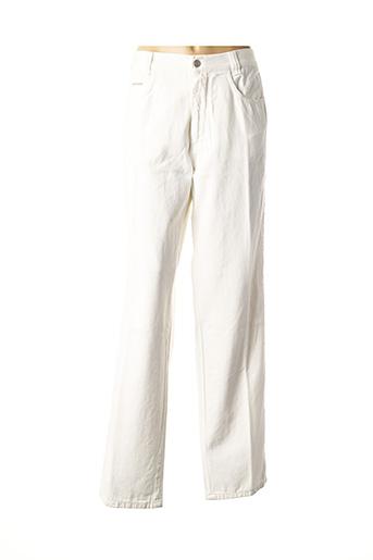 Pantalon casual blanc VERSACE pour femme