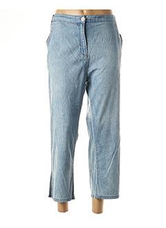 Jeans coupe slim bleu BE THE QUEEN pour femme
