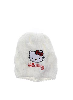 Bonnet blanc HELLO KITTY pour fille