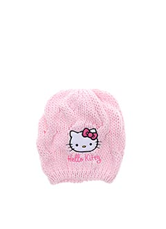 Bonnet rose HELLO KITTY pour fille