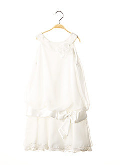 Robe mi-longue blanc DRESSING DE JOLA pour fille