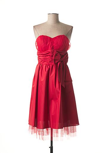 Robe mi-longue rouge EMMA LA FOLIE pour femme