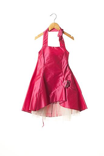 Robe mi-longue rouge EMMA LA FOLIE pour fille