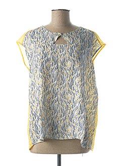 Blouse manches courtes jaune THALASSA pour femme