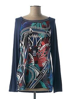 T-shirt manches longues bleu MASSANA pour femme