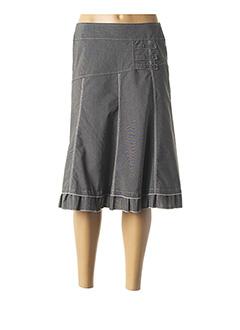 Jupe mi-longue gris HALOGENE pour femme