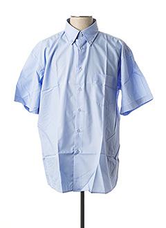 Chemise manches courtes bleu ALLONA pour homme