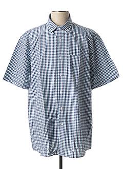 Chemise manches courtes bleu LOUIS VICTOR pour homme