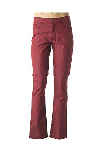 Pantalon casual rouge DELAHAYE pour homme