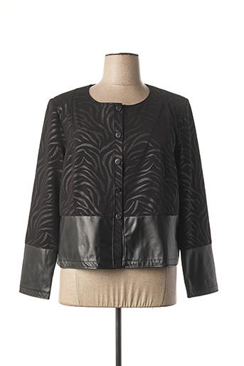 Veste simili cuir noir JEAN DELFIN pour femme