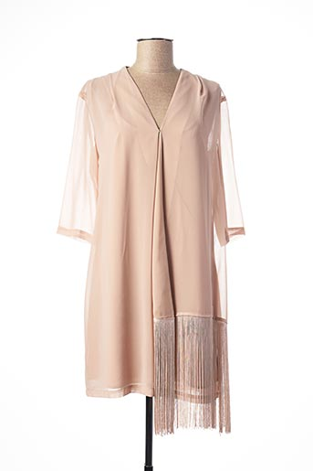 Robe courte beige TWIN-SET SIMONA BARBIERI pour femme