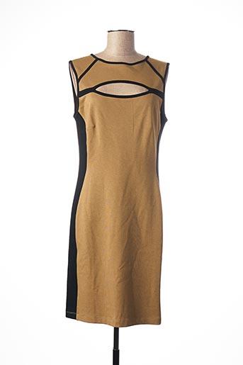 Robe mi-longue marron BLANC NATURE pour femme