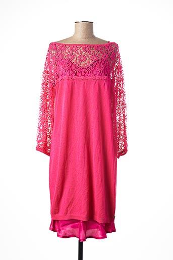 Robe mi-longue rose TWIN-SET SIMONA BARBIERI pour femme