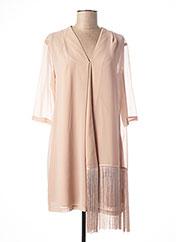 Robe courte beige TWIN-SET SIMONA BARBIERI pour femme seconde vue