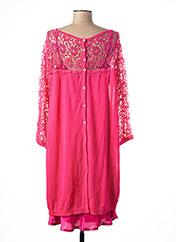 Robe mi-longue rose TWIN-SET SIMONA BARBIERI pour femme seconde vue