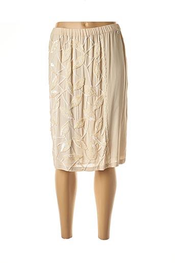 Jupe mi-longue beige TWIN-SET SIMONA BARBIERI pour femme