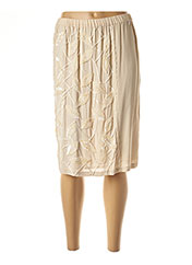 Jupe mi-longue beige TWIN-SET SIMONA BARBIERI pour femme seconde vue