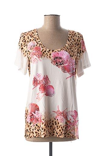 T-shirt manches courtes blanc FUEGOLITA pour femme