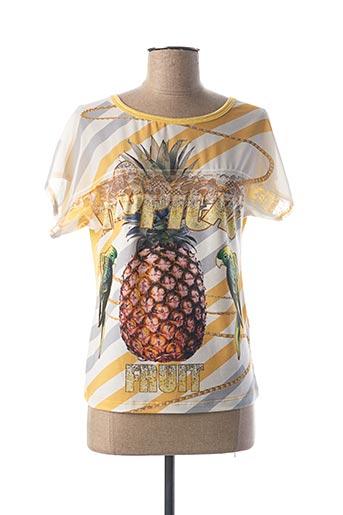 T-shirt manches courtes jaune EGO pour femme