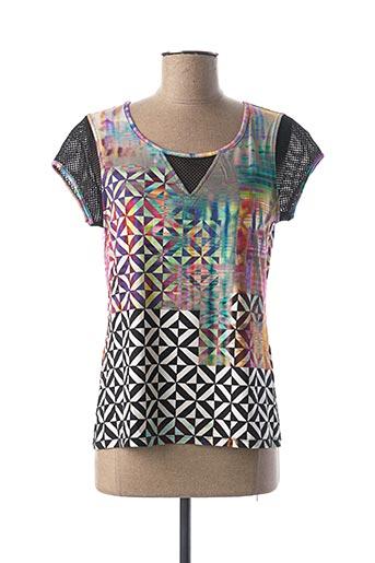 T-shirt manches courtes noir DIVAS pour femme