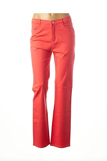 Pantalon casual orange I.QUING pour femme