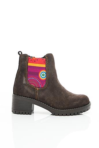 Bottines/Boots marron DESIGUAL pour fille