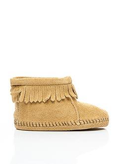 Bottines/Boots beige MINNETONKA pour fille