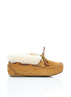 Chaussures bâteau beige MINNETONKA pour fille