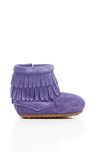Bottines/Boots violet MINNETONKA pour fille