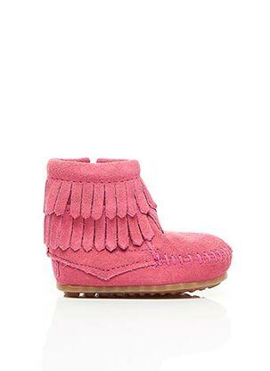 Bottines/Boots rose MINNETONKA pour fille
