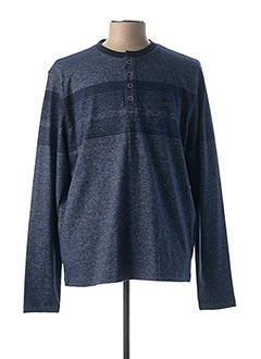 T-shirt manches longues bleu MONTE CARLO pour homme