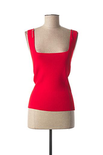 Pull col carré rouge JEI'S BY LETIZIA DENARO pour femme